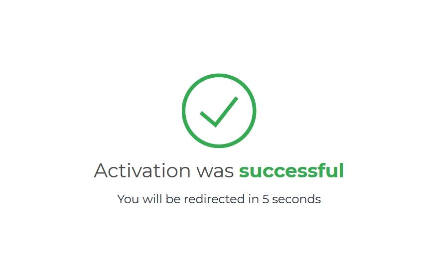 tài khoản IQ Option của bạn đã active thành công